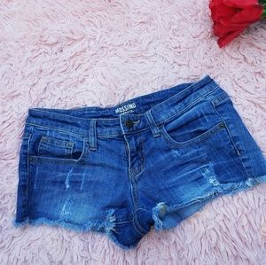 MOSSIMO JEAN SHORT RIPPED SIZE 9